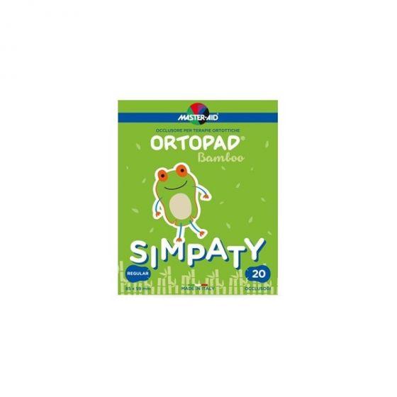 Master Aid | Ortopad Simpaty Αυτοκόλλητα Οφθαλμικά Επιθέματα για Παιδιά | Regular 85x59mm | 20τμχ