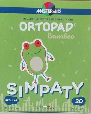 Ortopad Simpaty Regular | Αυτοκόλλητα Οφθαλμικά Επιθέματα για Παιδια 8,5 x 5,9 cm | 20 τμχ